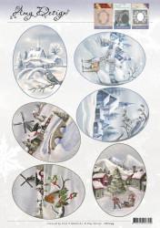 Amy Design knipvel winterlandschap CD11144 (Locatie: 0518)