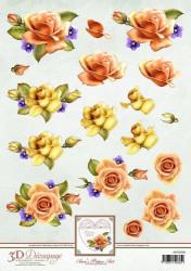 Ann's Paper Art knipvel rozen APA3D008 (Locatie: 2782)