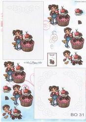 Anne Design knipvel/borduren gebak BO 31 (Locatie: 4751)