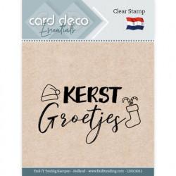 Card Deco Clear Stamp Kerstgroetjes CDECS012 (Locatie: NN288)
