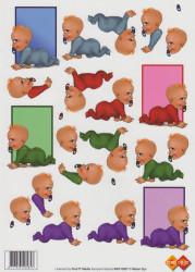 Card Deco knipvel baby MAT10007 (Locatie: 4726)