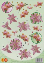 Card Deco knipvel bloemen CD10019 (Locatie: 2673)