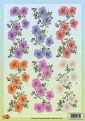 Card Deco knipvel bloemen HJ7201 (Locatie: 4727)