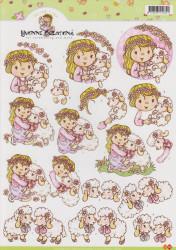 Card Deco knipvel kinderen CD10143 (Locatie: 2555)
