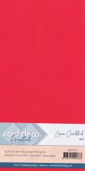 Card Deco linnen karton 13.5 x 27 cm rood, 10 stuks LKK-4K13