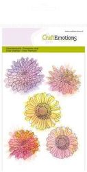 CraftEmotions clearstamps A6 - Chrysanten bloem Botanical Summer 130501/1072 (Locatie: NN011) )