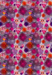 Decoratie Kaart uilen 2 vel / 210 gram HC763603 (Locatie: 2608)