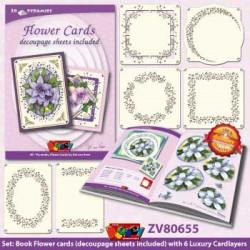 Doodey 3D-kaartenpakket bloemen met boekje en oplegkaarten ZV80655 (Locatie: 2208)