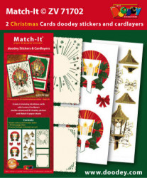 Doodey kaartenpakket om kerstkaarten te maken met 3D stickers en oplegkaarten ZV71702 (Locatie: 4530)