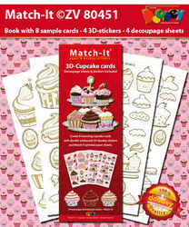 Doodey Match-It 3D Cupcake Cards ZV80451 (Locatie: 2354)