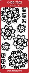 Doodey sticker goud bloemen DD7502 (Locatie: N181)