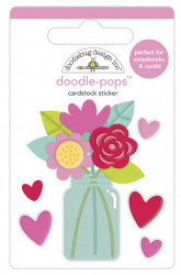 Doodlebug Design 3D sticker, 6x4.5 cm, love you bunches, 6577 (Locatie: c037)