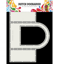 Dutch Doobadoo Card Art Fold card Window Rounded top stencil 21 x 16 cm 470.713.728 (Locatie: 4737)