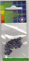 Eyelets midden blauw 25 stuks nr. 20407/22 (Locatie: 5RC1 )