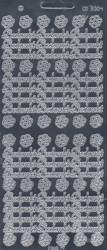 Find It stickervel glanzend zilver bedankt CD3004 (Locatie: u166)