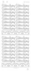 Find It stickervel glanzend zilver uitnodiging CD3006 (Locaite: D58)