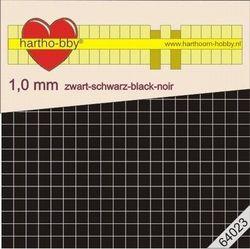 Hartho-bby foampads zwart 1.0 mm dik 64023 (Locatie: 5R)