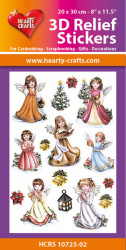 Hearty Crafts 3D Relief Stickers Angels (2) A4 HCRS10723-02 (Locatie: 2251)