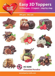 Hearty Crafts Easy 3D Toppers Chocolate Paradise HC9290