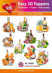 Hearty Crafts Easy 3D Toppers Drinks & Cocktails HC10568 (Locatie: K2)
