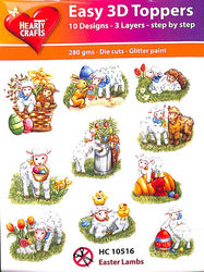 Hearty Crafts Easy 3D Toppers Easter Lambs HC10516 (Locatie: K2)