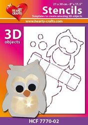 Hearty Crafts Stencil 3D Uil HCF7770-02 (Locatie: 2526)