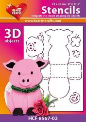 Hearty Crafts Stencil 3D Varken HCF8567-02 (Locatie: 2526)