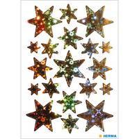 Herma stickers sterren holografisch goud 1 vel 3902 (Locatie: HE023)