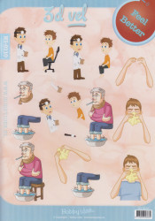 Hobby Idee knipvel beterschap/mannen HI0110 (Locatie: 2440)