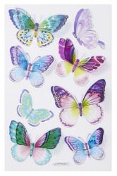 Hobbyfun 3D sticker vlinder blauw/paars (Locatie: 1628)