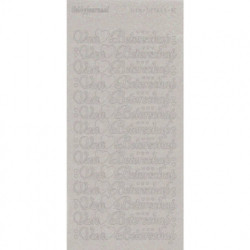 Hobbyjournaal stickervel transparant zilver glitter beterschap (Locatie: h209)