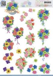Jeanine's Art knipvel bloemen CD10457 (Locatie: 0902)