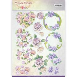 Jeanine's Art knipvel vintage flowers CD11044 (Locatie: 2413)