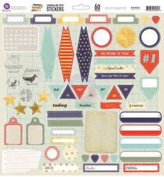 Journaling stickers, 60 stickers, 30.48x30.48cm, 569549