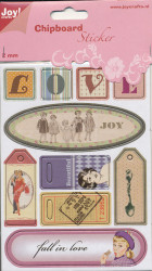Joy! Chipboard stickers 2 mm. dik 6013/1458 (Locatie: 1469)