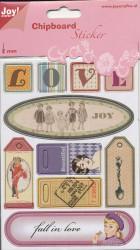 Joy! Chipboard stickers 2 mm. dik 6013/1458 (Locatie: 1469)
