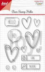Joy! Clear Stamp Hello 6410/0497 (Locatie: NN195)