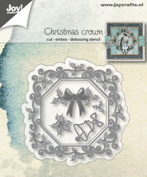 Joy! Craft snij- en embosmal Christmas Crown 6002/1340 (Locatie: V007)