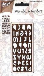 Joy! Crafts Snijplaat Alphabet en nummers 6002/0139 (Locatie: A296)