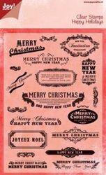 Joy! stempel merry christmas 6410 0106 (Locatie: 5502)