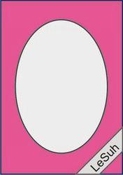 Le Suh Wenskaart Ovaal fuchsia 5 stuks 411110 (Locatie: 4RS4 )