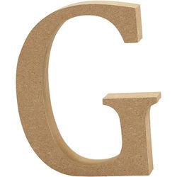 Letter G, hoogte 13 cm, dikte 2 cm, MDF, 1stuk (Locatie: KB)