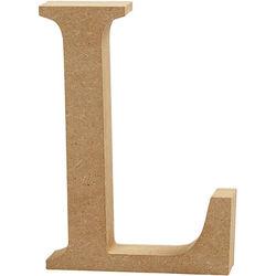 Letter L, hoogte 13 cm, dikte 2 cm, MDF, 1stuk (Locatie: KB)