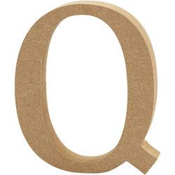 Letter Q, hoogte 13 cm, dikte 2 cm, MDF, 1stuk (Locatie: KB)