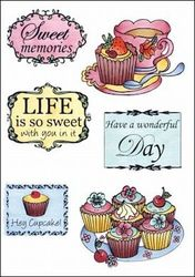 Marianne Design Clear Stamp Tea and cupcakes EWS2206 (Locatie: H380)