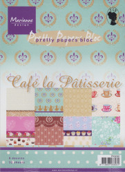 Marianne Design Pretty Papers Bloc Cafe la Patisserie PK9090