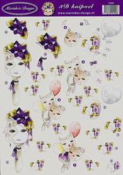 Marieke's Design knipvel masker 2409 (Locatie: 714)