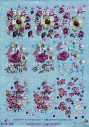Metallic knipvel bloemen nr. 111742112 (Locatie: 4502)