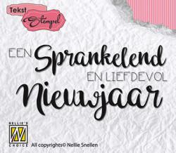 Nellie Snellen clear stamp Een sprankelend en liefdevol nieuwjaar DTCS008 (Locatie: NN057)