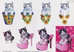 Nielsen Cards knipvel katten KA004 (Locatie: 0524)